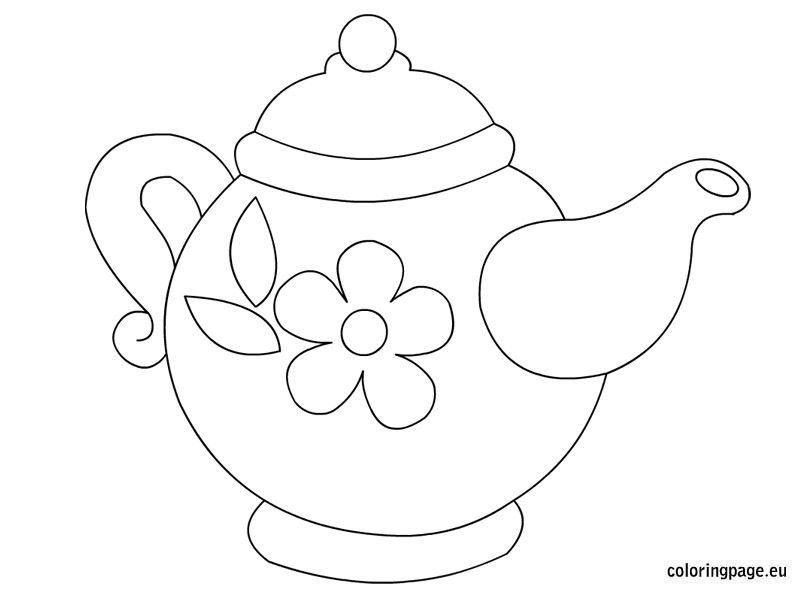 teapot coloring page # 1