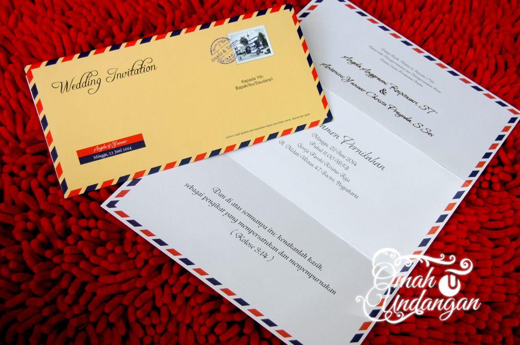 Undangan Softcover Airmail Isi Sc 64 Undangan Undangan Pernikahan Amplop