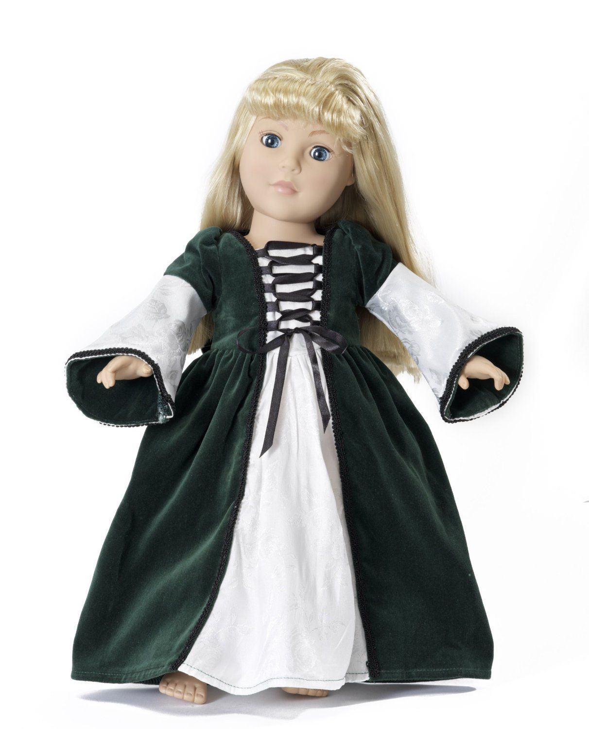 Medieval Princess Dress Outfit 18 Inch Doll Clothes