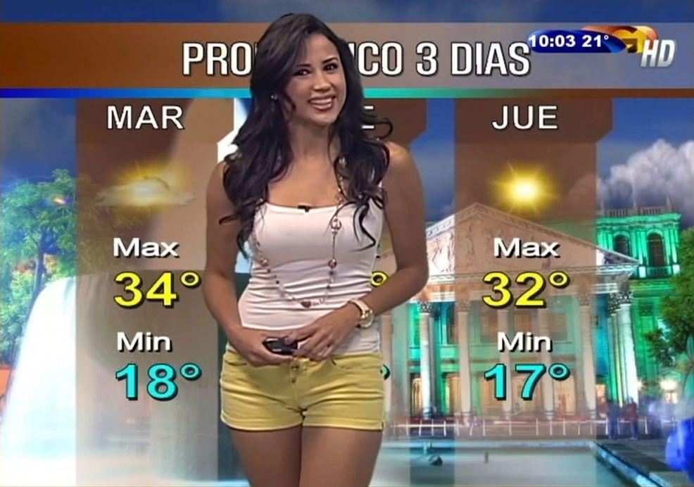 Hot latina weather woman