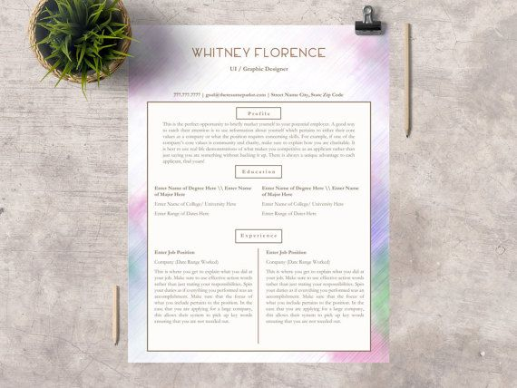 Creative Resume Template Professional CV for by TheResumeParlor - web designer resume template