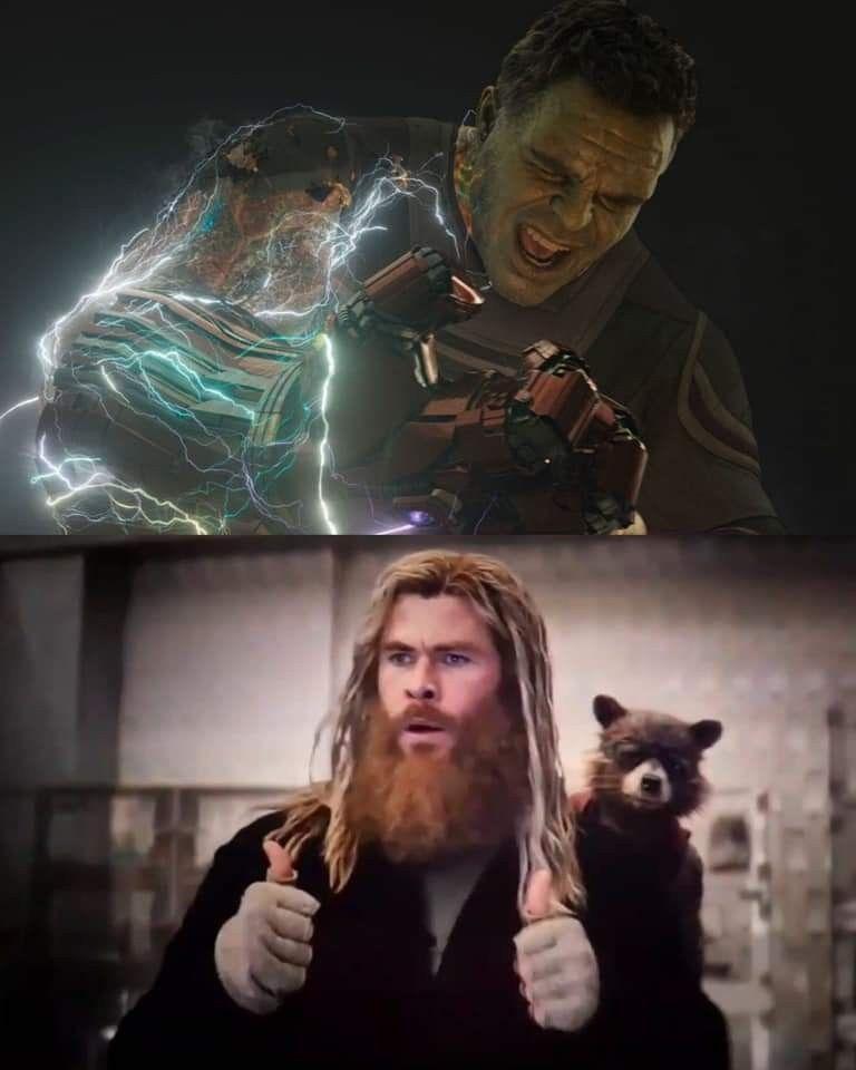 Endgame hulk thor meme template   DC and Marvel    Marvel
