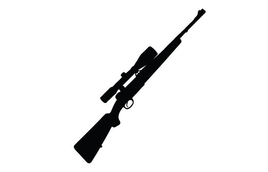 Rifle Silhouette Vector Free Download Defense Vector