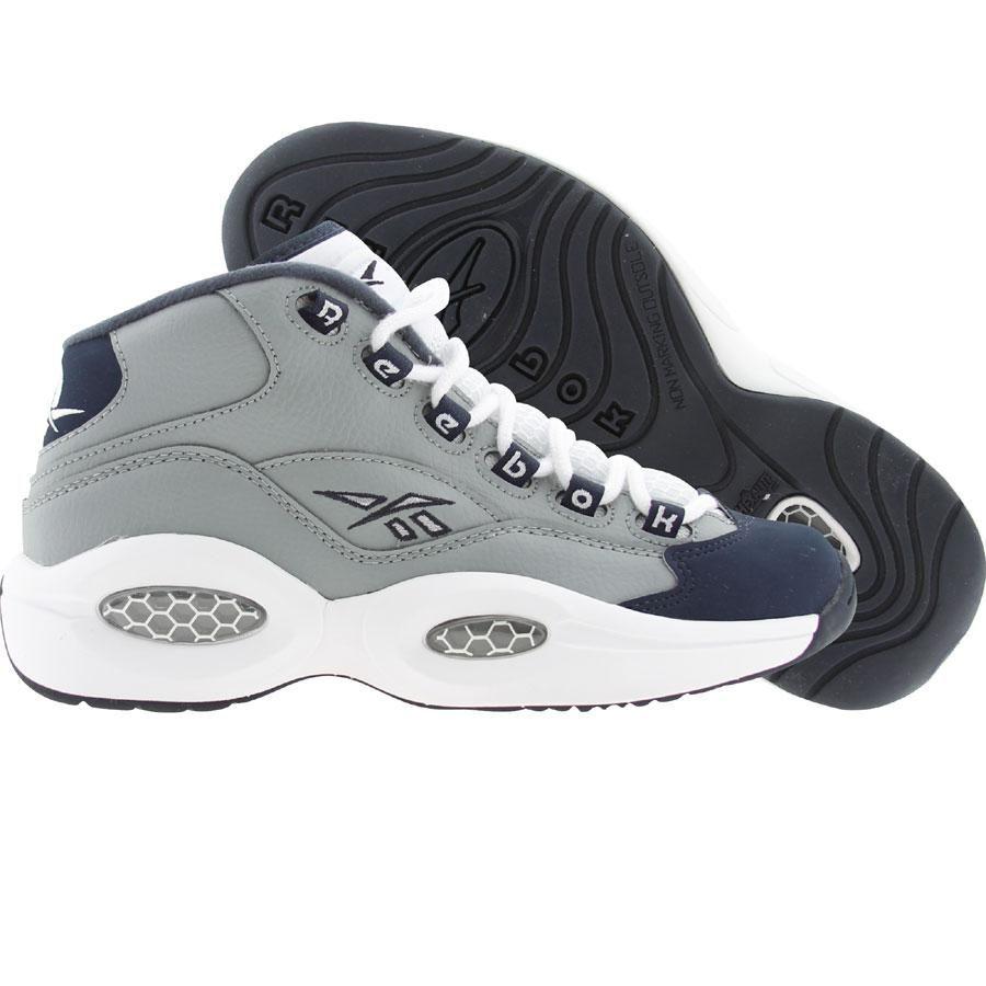 1dd2b5176c42 Reebok Big Kids Question Mid - Georgetown Hoyas (grey   athletic navy    white) V48098 -  89.99