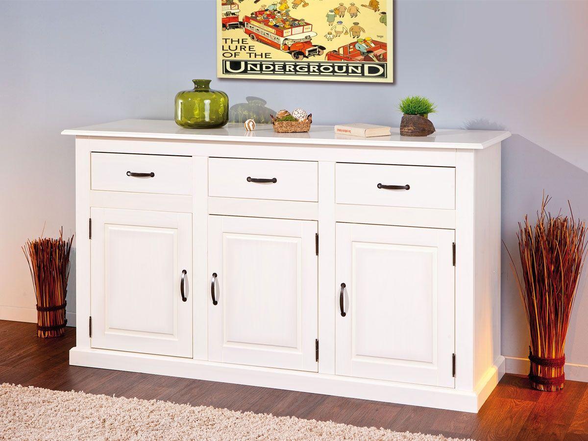 aparador de estilo romántico, aparador romántico, aparador de melamina, aparador romántico de melamina, aparador de melamina en color blanco, aparador en blanco, aparador romantico en blanco, mueble aparador, mueble aparador en blanco