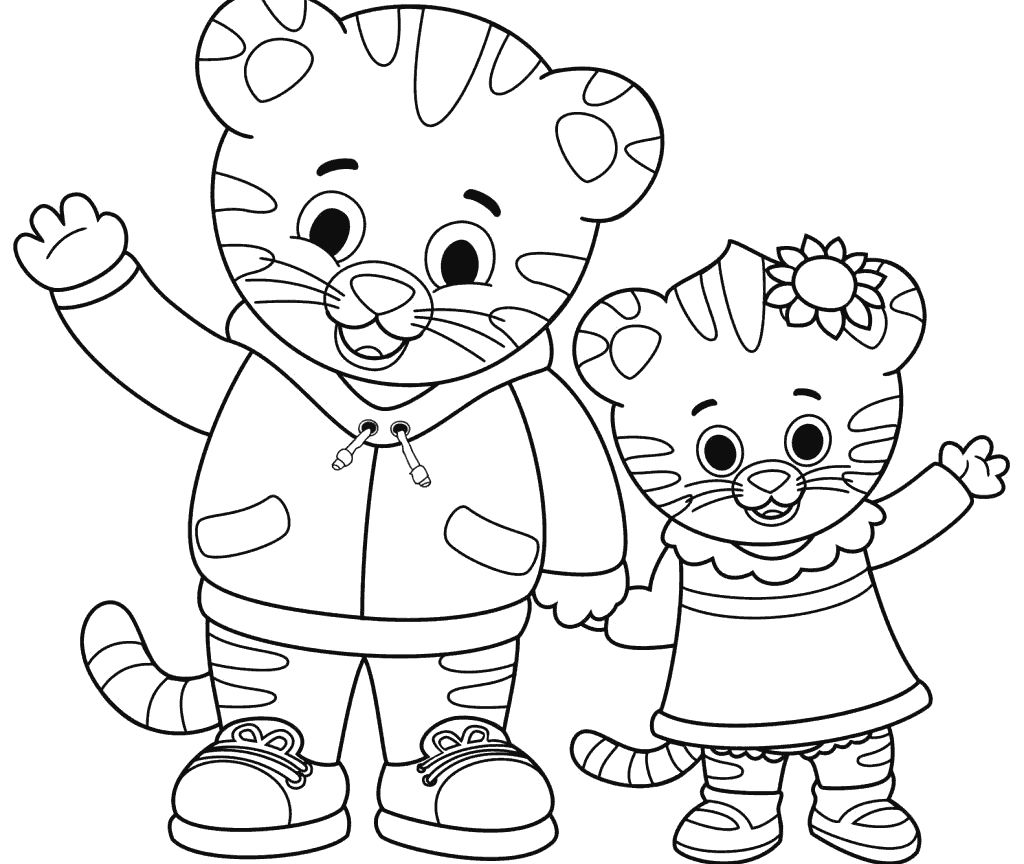 Free Printable Daniel Tiger Coloring Pages With Images