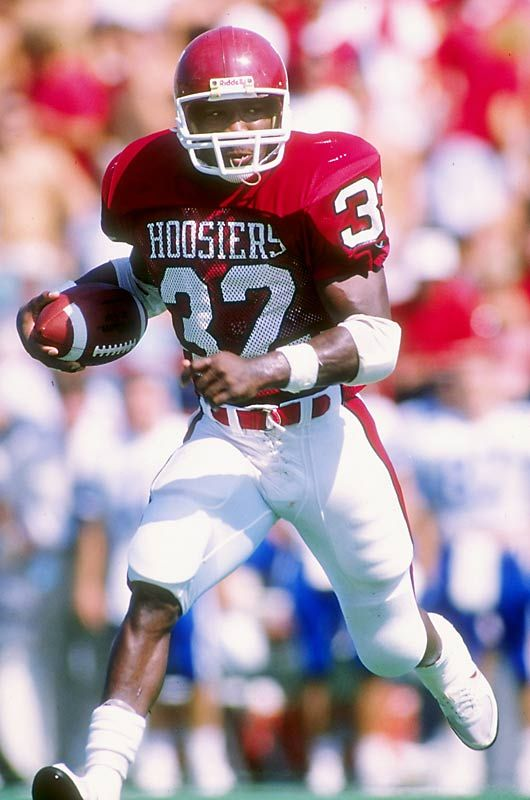 Indiana's Anthony Thompson | Football helmets, Anthony thompson, Football