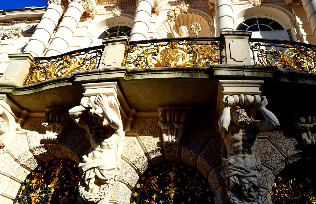 Stunning germany palace balcony