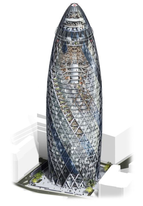 Architecture Drawing Illustrator 30 st mary axe (gherkin)illustration created using adobe