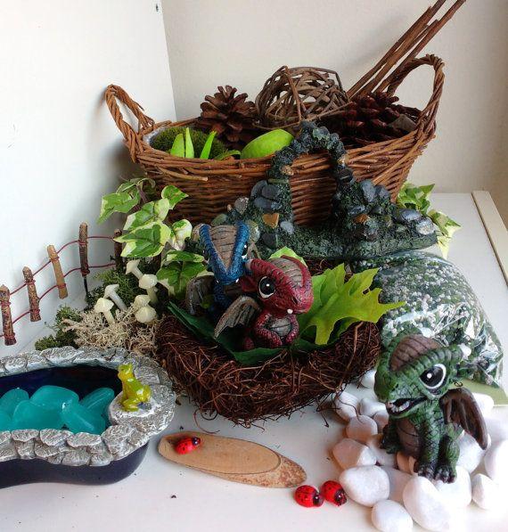 Fairy Garden Kit Alternative Baby Dragon Garden DIY by MerryElfmas