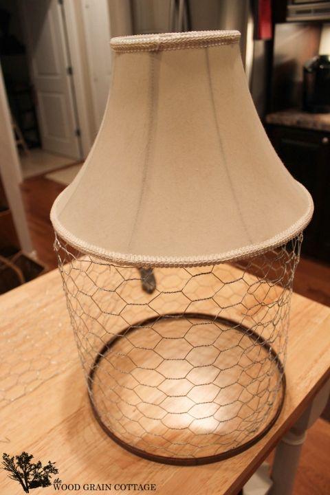 Diy Chicken Wire Light Fixture