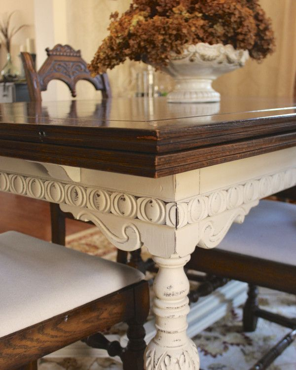 Painted Furniture: Dining Room Table Update
