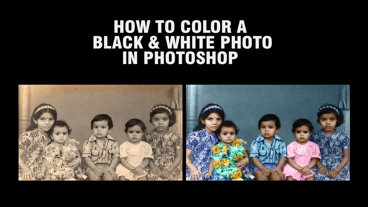 How to color a black and white photo in photoshop photoshop how to color a black and white photo in photoshop baditri Choice Image