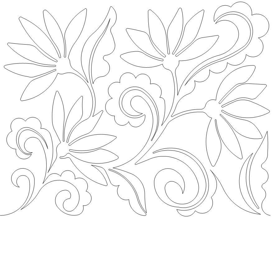 paisley flowers 0175 long arm quilt patterns pinterest