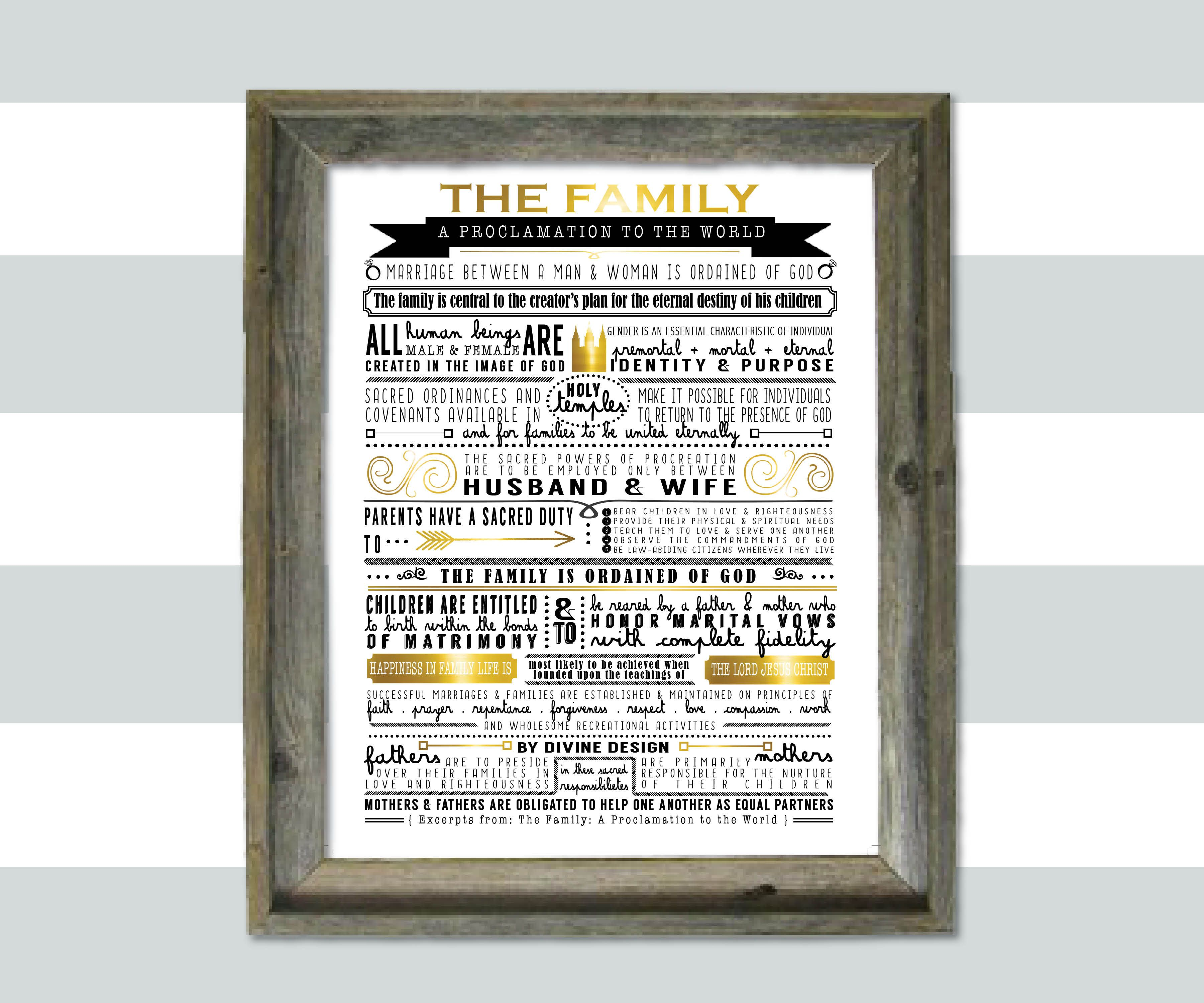 Excerpts from The Proclamation to the Family by DubDubDesigns dubdubdesigns.etsy.com