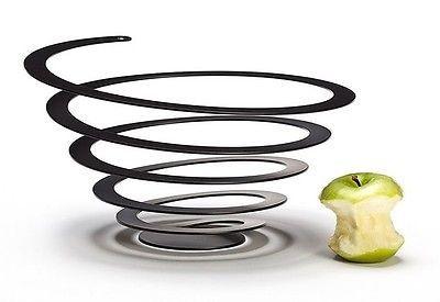Fruit-Bowl-Poing-Spiral-OTOTO-Decorative-Metal-Unique-Centerpiece-Modern-Design