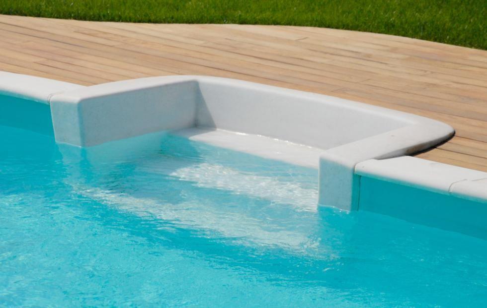 Escalier de piscine Waterair  modèle Cubic jardin rêver Pinterest - local technique de piscine