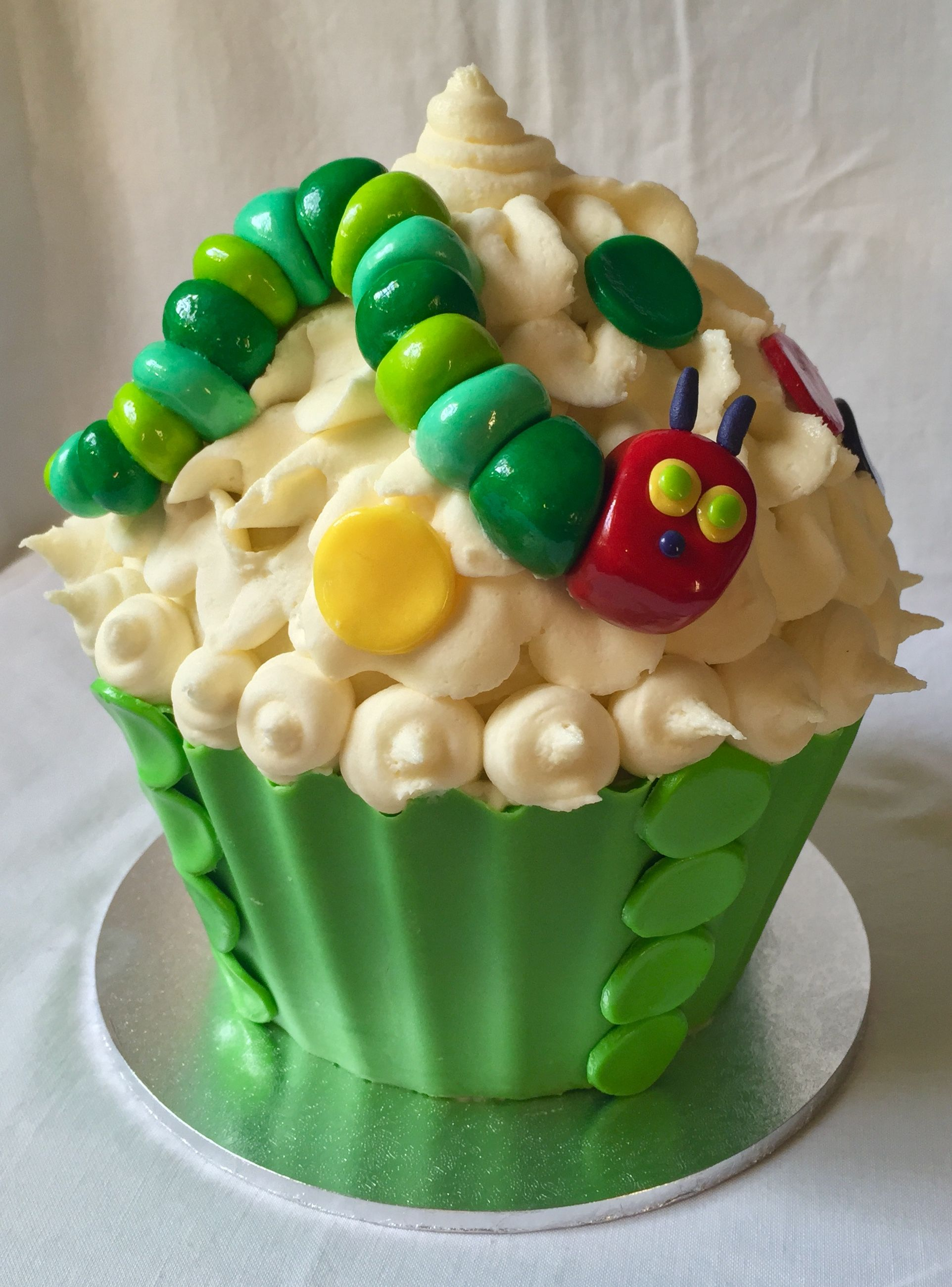 Giant Cupcake Cake The Hungry Caterpillar Theme