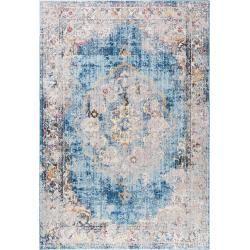 benuta Trends Teppich Tara Multicolor/Blau 200x290 cm - Vintage Teppich im Used-Look #peinturesalontendance