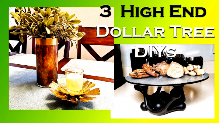 High End Home Decor  3 Mostly Dollar Tree DIY Accessories  YouTube #Accessorie #…