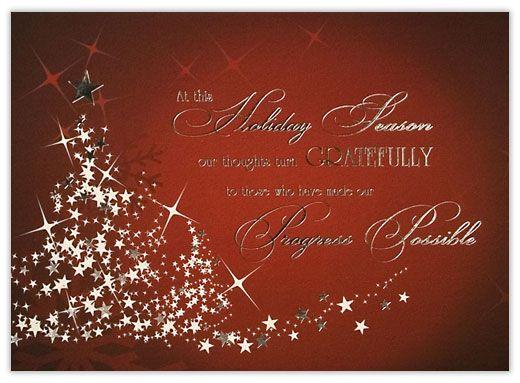 Customer Appreciation Tree Customer Appreciation From Cardsdirect Company Christmas Cards Holiday Card Template Free Holiday Card Templates