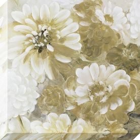1-Piece 35-In W X 35-In H Frameless Canvas Floral Print Wall Art 1607-