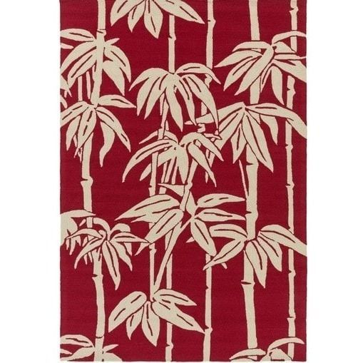 Bondi Red Tropical Outdoor Rug