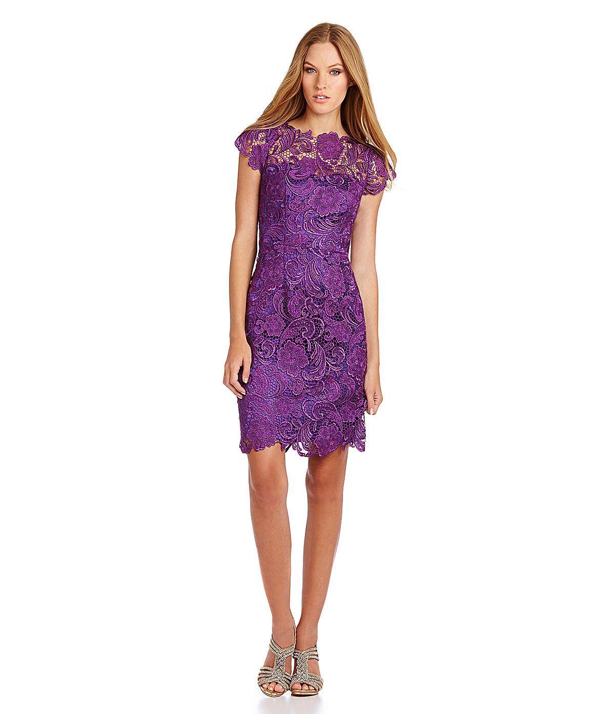Decode 1.8 Floral Lace Sheath Dress | Dillards.com | bridesmaid ...