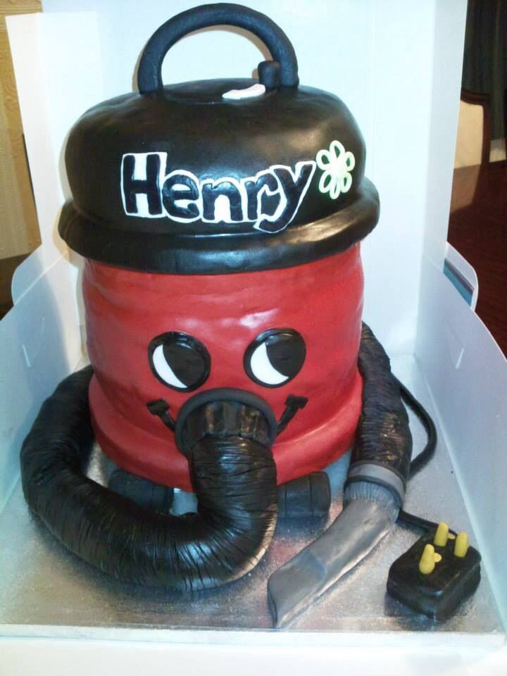 Henry The Hoover Cake From Cakes By Nicky The Duster Is For The