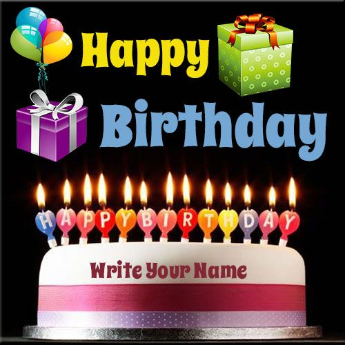 Generate Happy Birthday Candles Cake Name Pics Online