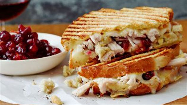 Leftover Thanksgiving Panini Recipe : Ree Drummond : Food Network