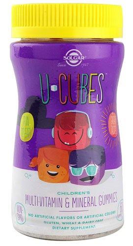 Solgar U-Cubes Children s Multi-Vitamin   Mineral Gummies -- 60 Gummies, Red fc8a02324c4b