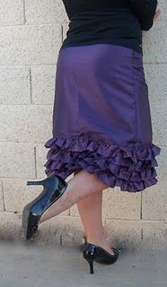 do I detect a ruffly theme here in my recent posts? Yes, I am all girl after all.  Cute, cute ruffly skirt