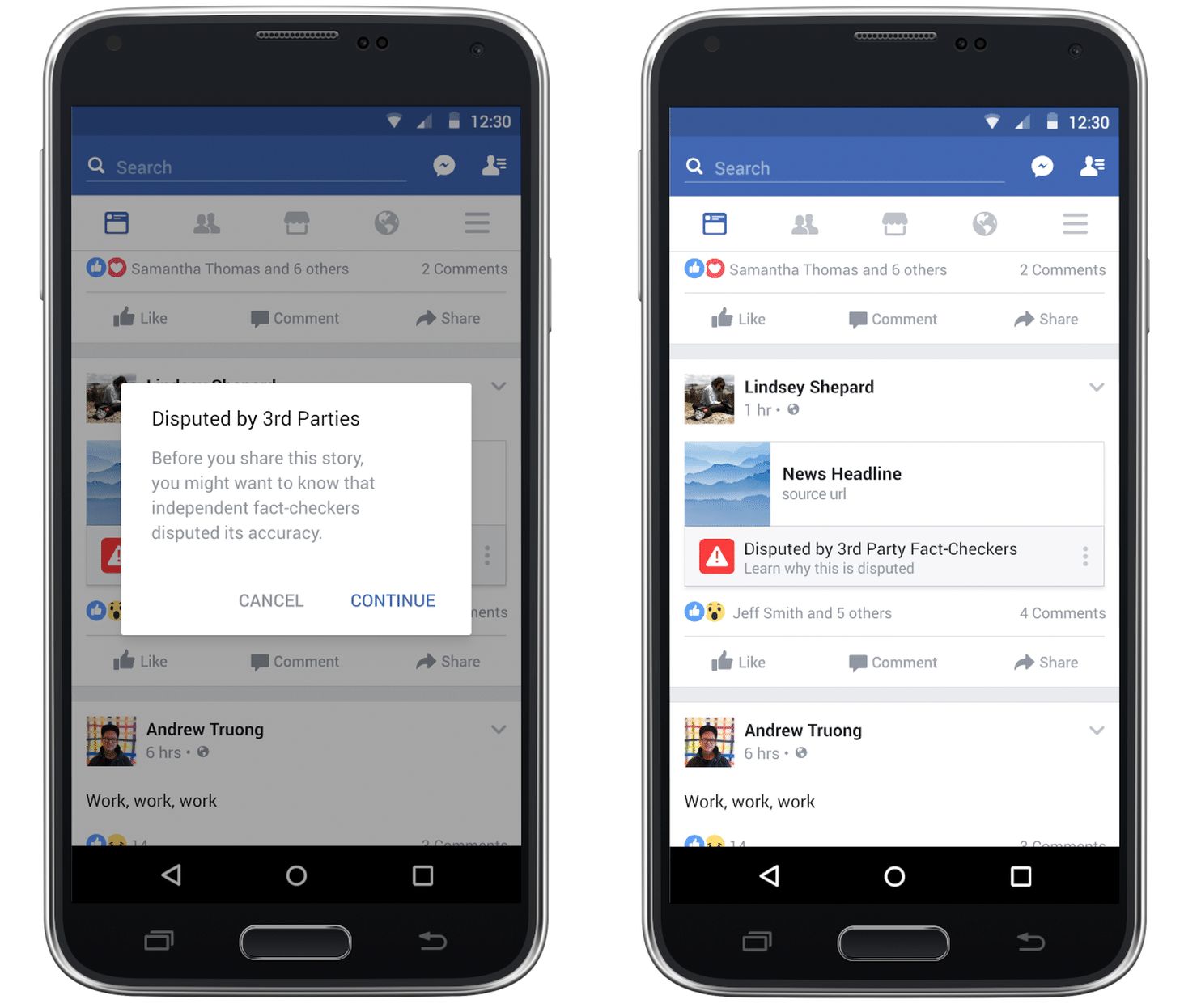Facebook will start telling you when a story may be fake