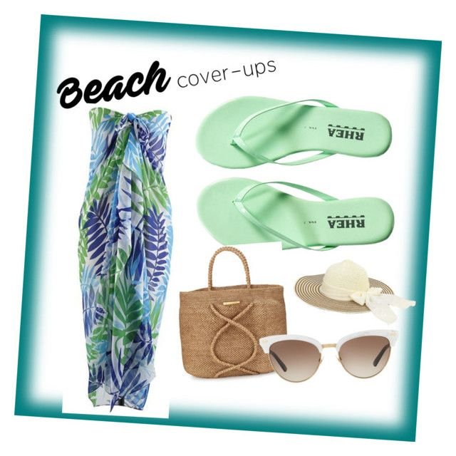 """""""summer at the beach"""" by lizarose65802 on Polyvore featuring ViX, Gucci and coverups"""