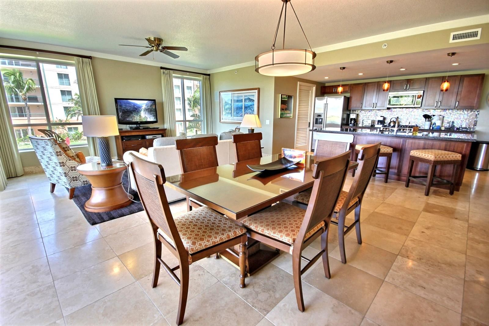 Open Kitchen Living Room Coastal Living Flooring Living Room Kitchen Open Kitchen