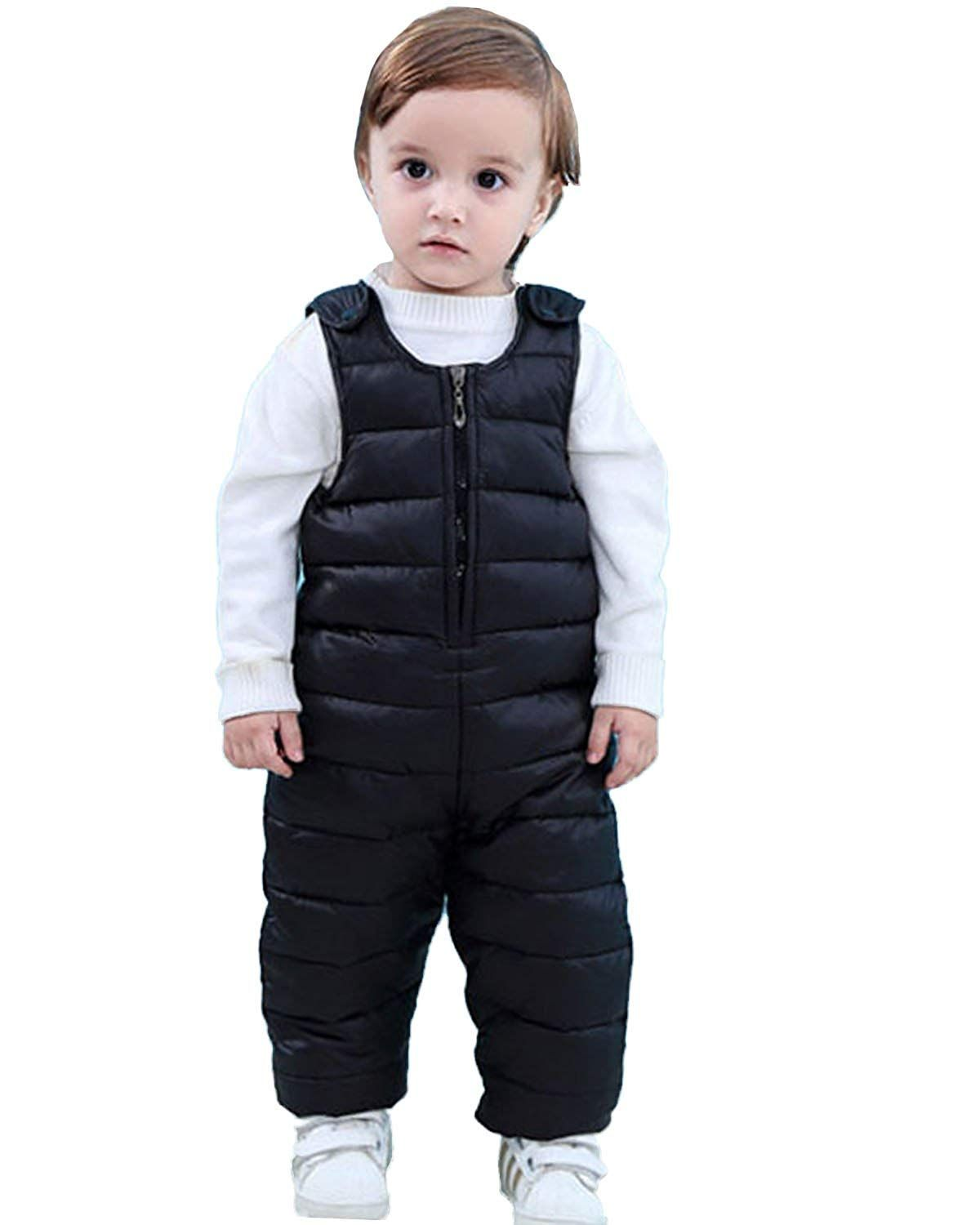 Happy Cherry Baby Kids Down Snow Pants Windproof Winter Trousers Puffer Warm Pants