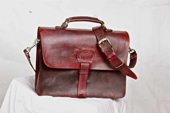 62ab9847bbcb Hippie Rustic Leather Messenger Bag Men s Women s Briefcase Laptop Satchel  fits Macbook Pro 15