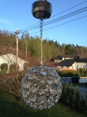 Solcellelampe i krystall :)