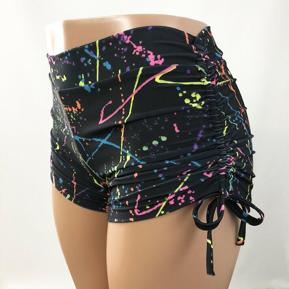 61f31b3bff Neon Splash Hot Yoga Short Plus Size Bikram Yoga Shorts Pole Swim  SXYFITNESS USA #SXYFitness #Shorts