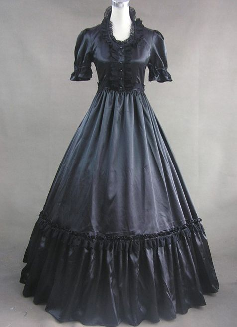 Black Gothic Victorian Dress Victorian Lolita Dresses Pinterest