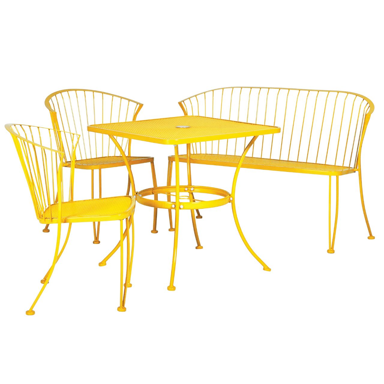 Patio Furniture Abq Nm: Pinecrest 4-Piece Bistro Set - Yellow