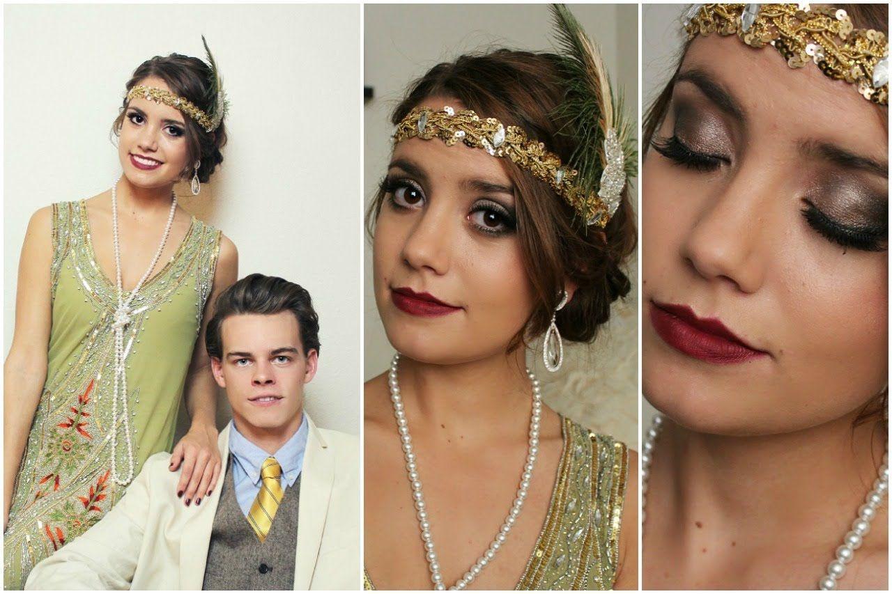 FlapperDaisy Buchanan & Gatsby Halloween Tutorial! (Hair