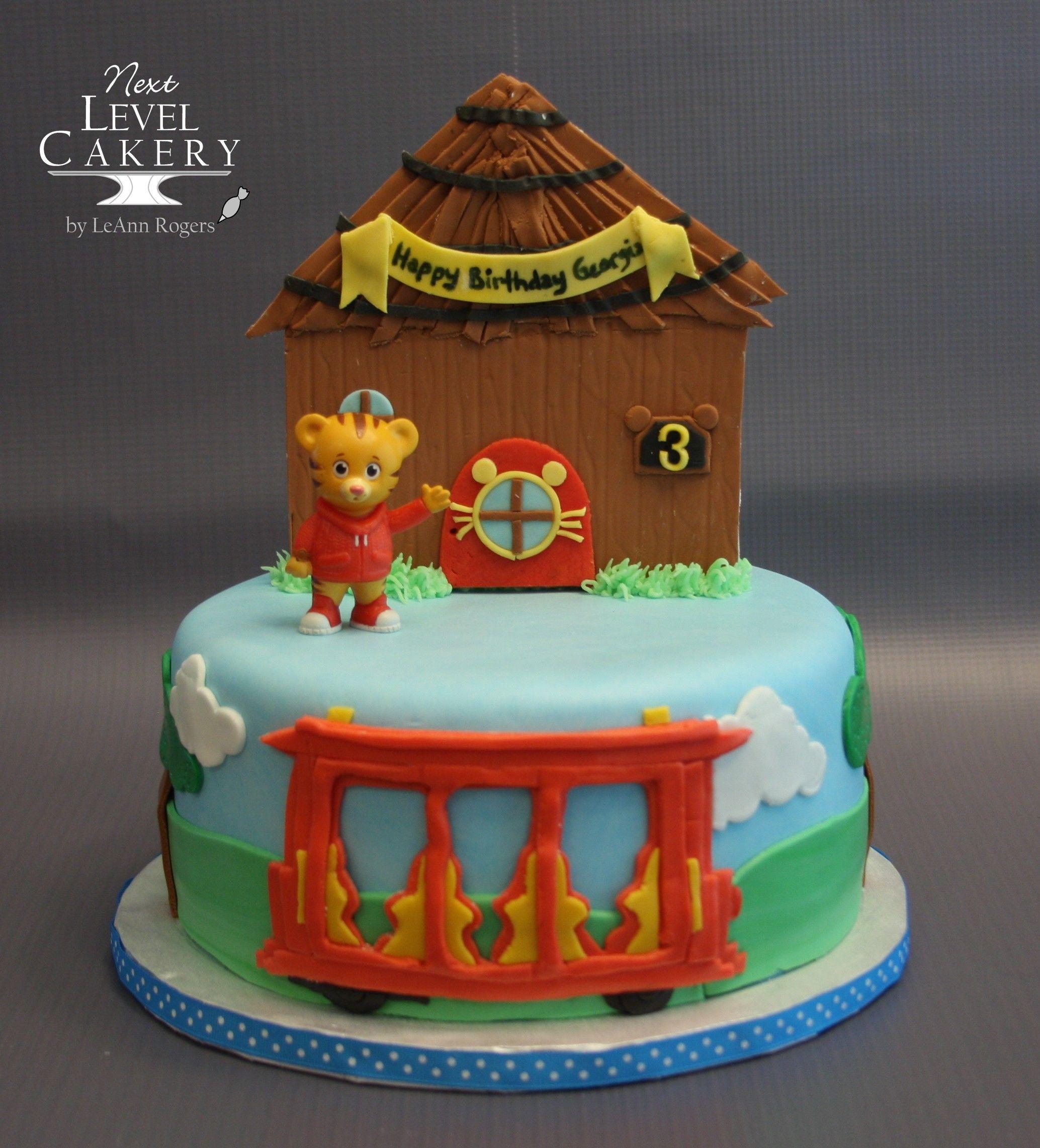 Daniel Tiger Cake Trolley Cake Mr Rogers Neighborhood Cake