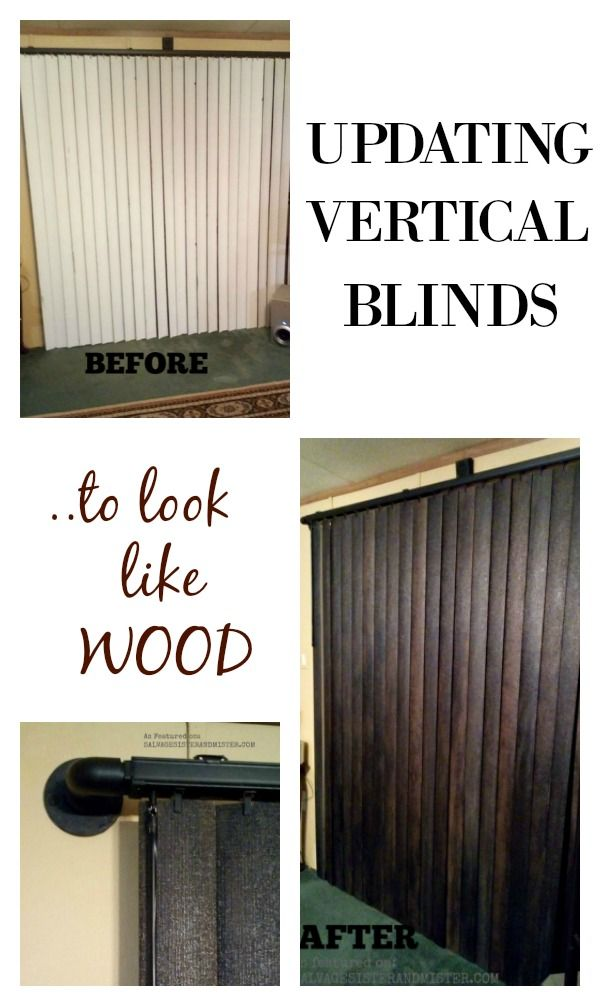 Update Vertical Blinds to Look Like Wood