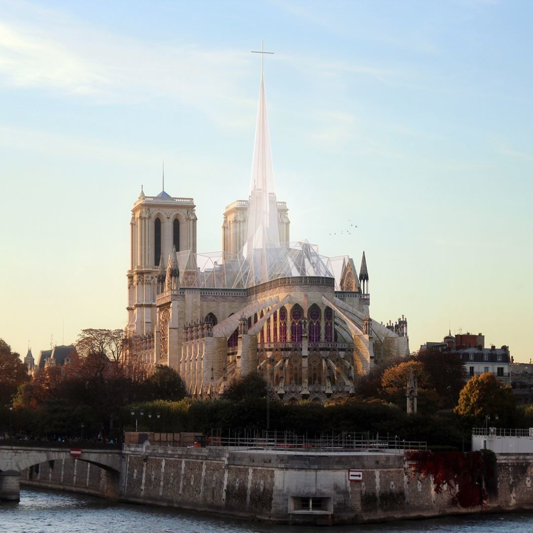 8 New Spire Designs That Could Crown The Notre Dame Cathedral Dwell Cathedral Famous Buildings Spires