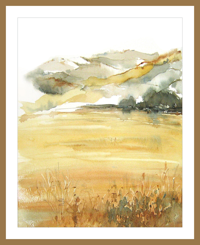 English Countryside Print Decor Meadow Print Art Landscape Etsy Watercolor Landscape Watercolor Landscape Paintings Art