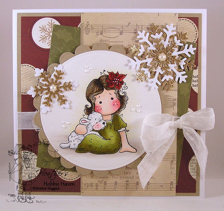 December Card Kit - Tilda With A Cute Lamb $30