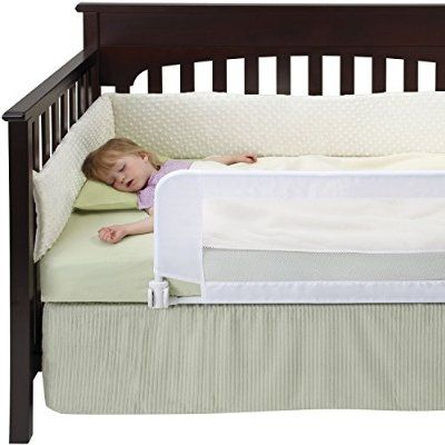 DexBaby Safe Sleeper Convertible Crib Bed Rail for Toddler with Reinforced Anchor Safety