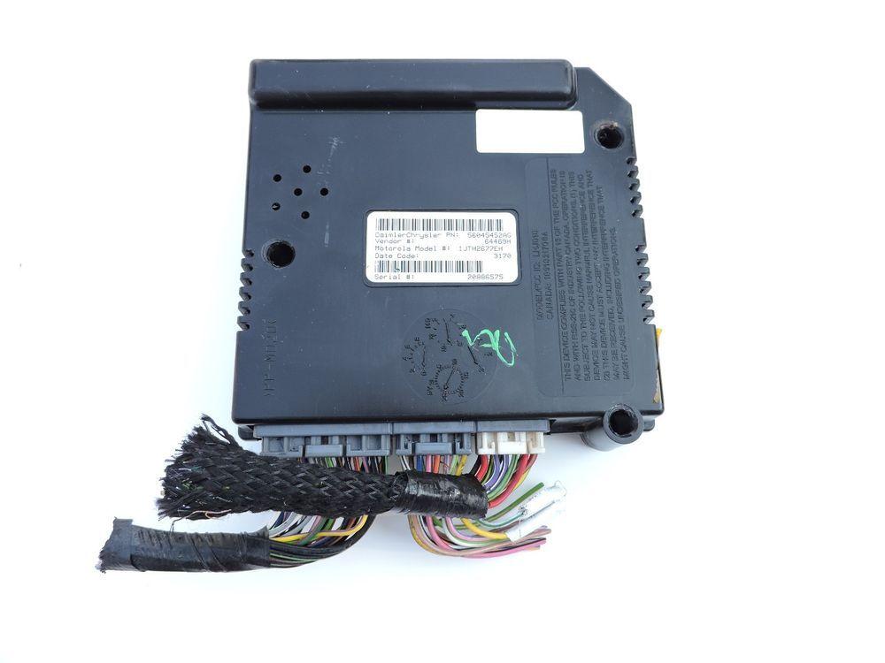 01 03 Dodge Dakota Central Timing Module 56045452ag Ctm Body Alarm
